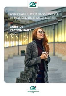 """Couverture - """"Guide de l'actionnaire 2020"""""""