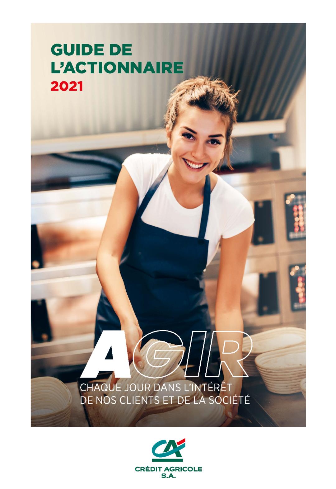 """Couverture - """"Guide de l'actionnaire 2021"""""""
